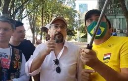 Abraham Weintraub, one of the president's most controversial ministers, appeared at a rally organized by Bolsonaro supporters on Sunday.