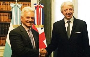 "The minister argued that the Foradi-Duncan accord only purpose was ""to show that Argentina was in good relations with UK, and that is would not interrupt the development of the Islands"""