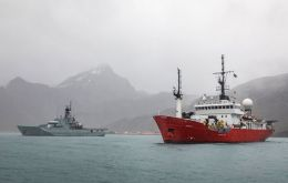 MV Pharos SG is the South Georgia fisheries patrol  (Pic John Dickens)