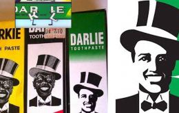 Darlie is a Chinese brand owned by Colgate and its joint venture partner Hawley & Hazel. Its package features a smiling man in a top hat