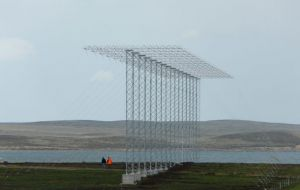 The superDARN on the Falkland Islands was previously at Halley Research Station in Antarctica. Photo credit_Gareth Chisham