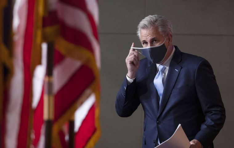 Top Republican in the Lower House, Kevin McCarthy, said every American has a responsibility to follow the recommendations of health officials to wear masks