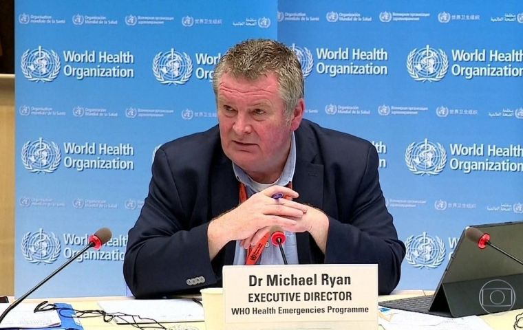 """We would encourage that Brazil continues to fight against the disease, that Brazil links the efforts at federal and at state level,"" said Michael Ryan"