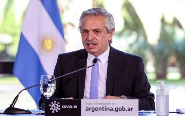 "Argentina's president Alberto Fernandez said the offer was the ""maximum effort we can make"". ""An enormous effort that we have made to fulfill our word"""