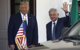 """Each of us was elected on the pledge to fight corruption, return power to the people and put the interests of our countries first,"" Trump told Lopez Obrador"
