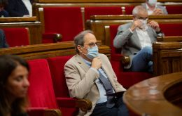 """Masks will be mandatory all over Catalonia, not just in the Segria region ... I think it's an important measure,"" Torra told the regional parliament"
