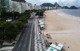 While Rio has relaxed lockdown measures aimed at curbing the spread of the virus, most locals are still shunning famed beaches like Copacabana and Ipanema