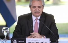 President Fernandez making the announcement of the quarantine extension