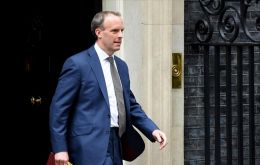 "Foreign Secretary Dominic Raab said that ""the UK is disappointed by the ongoing attempts to frustrate the will of the people (of Guyana)"""