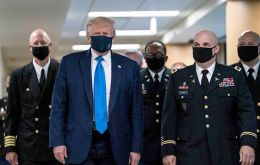 """We are United in our effort to defeat the Invisible China Virus, and many people say that it is Patriotic to wear a face mask when you can't socially distance"""