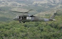 Authorities found the helicopter in a stretch of the river Inirida in Guaviare state, an area where dissident former FARC are active