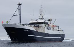 Longliner San Aoetea II was expected to arrive in Timaru on August 1 after a 55-day round trip, but arrived on Friday morning, ahead of schedule