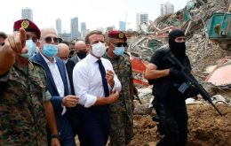 Speaking at a news conference at the end of a dramatic visit to Beirut, Macron called for an international inquiry into the devastating explosion