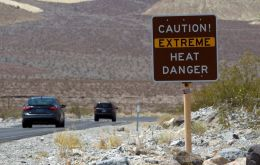 A heat wave roasting much of the western United States and is expected to continue all week. On Sunday afternoon at Death Valley it soared to 130 Ft (54.4 Celsius).