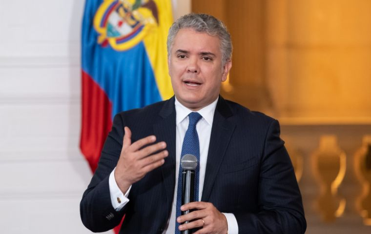 Duque repeated Colombia's support for Claver-Carone in his bid to lead the Inter-American Development Bank (IDB), which is set to choose a new head next month.