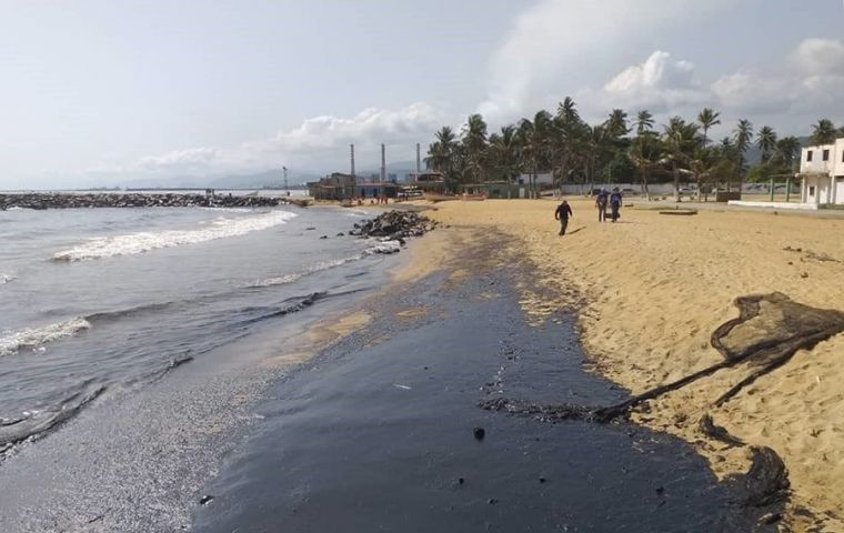 Independent researchers and lawmakers have said the spill likely originated from the El Palito oil refinery in nearby Carabobo state, citing satellite images