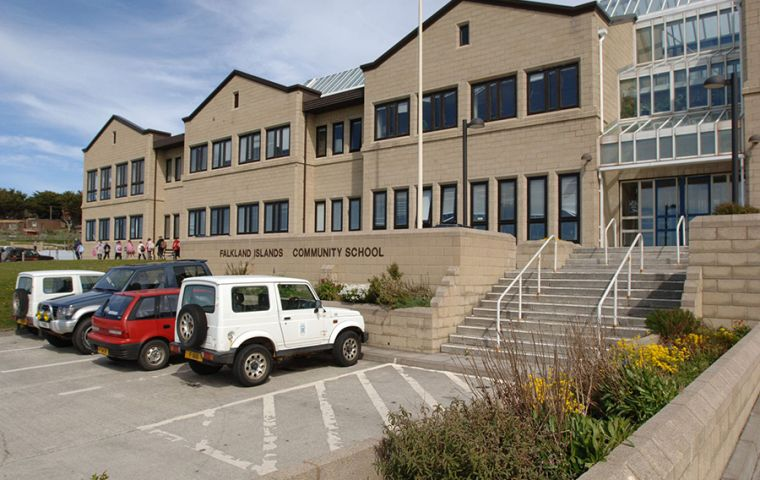 The Falkland Islands Community School in Stanley