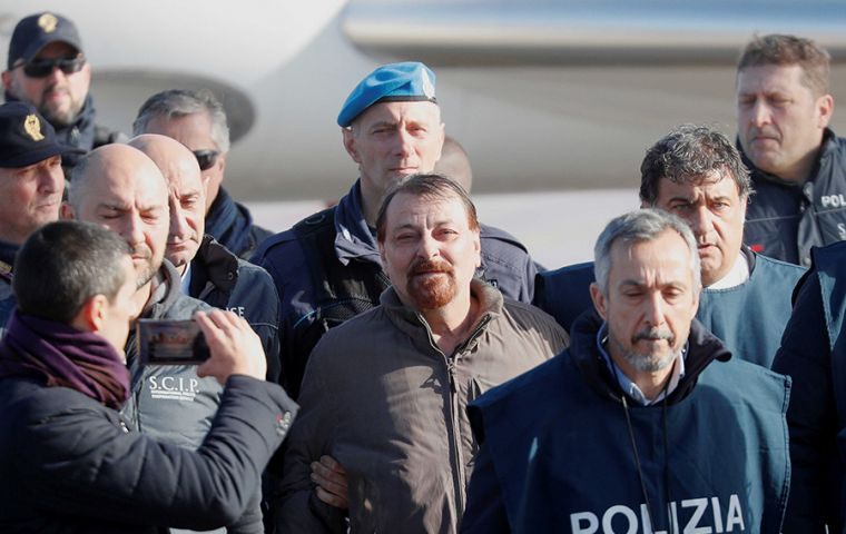Now serving a life sentence in Italy, Battisti confessed to the 1970s murders several weeks after his capture.