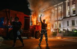 Officials were preparing for a repeat of Monday night when smoke billowed over central Kenosha and police in riot gear clashed with protesters who defied a dusk-to-dawn curfew