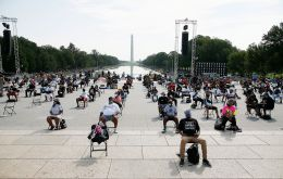 The half-mile march from the Lincoln Memorial to the Martin Luther King Memorial, comes amid a summer of growing racial unrest