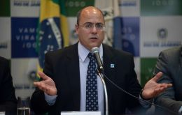 The court ruling suspends Witzel, 52, from office for at least 180 days as authorities investigate claims he took 274.2 million Reais (US$50 million) in kickbacks.