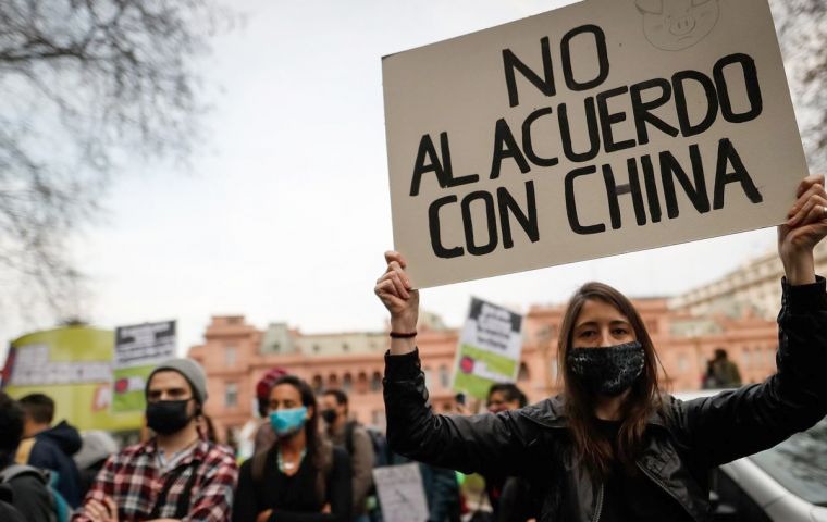 "NGOs under the motto ""We are not interested in becoming a factory of pigs for China, or a factory of new pandemics"", started collecting signatures to stop the announced project"