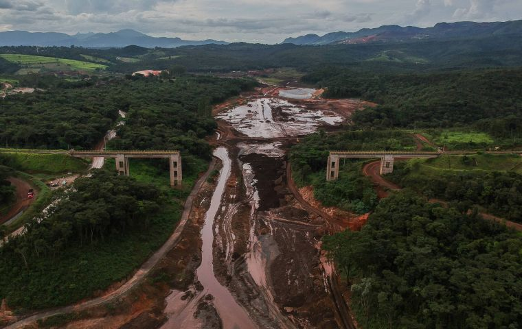 The collapse of the dam took place at the Brumadinho mine owned by the world's largest iron ore miner Vale SA in the state of Minas Gerais.