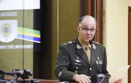 The death of 53-year-old general Carlos Sydriao was confirmed by the army on Tuesday, according to local news agency Agencia Brasil