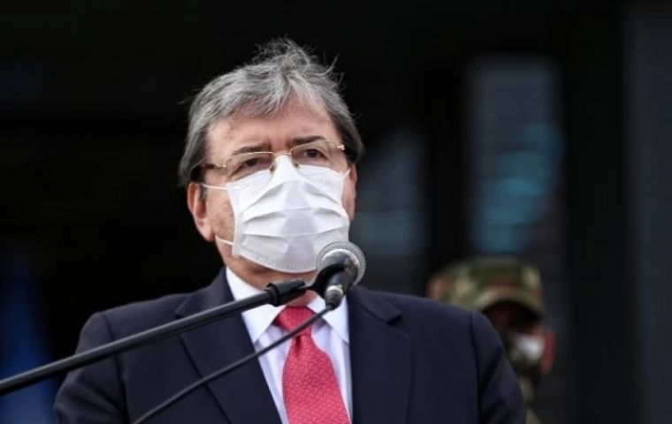 """The national police apologize for any violation of the law or ignorance of regulations by any members of the institution"", Defense Minister Carlos Holmes Trujillo said in a video message."