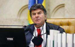 """The judiciary will not hesitate to make decisions to protect democracy and freedom of press,"" Fux said during his swearing-in ceremony in Brasilia"