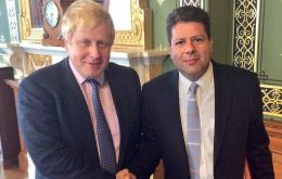 Prime Minister Johnson and Gibraltar Chief Minister has a long discussion on the Rock's future relationship with the EU (Pic File)