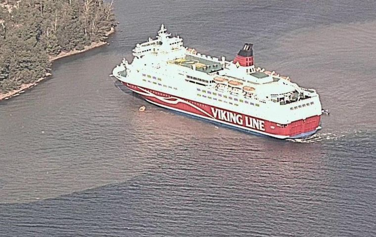 The ship, Amorella, is 169m long and does daily trips between Stockholm in Sweden and Turku in Finland