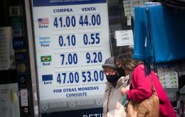 On Wednesday Uruguay's leading bank, which belongs to the State, Banco Republica, was offering ten cents for each Argentine Peso, and selling for 55 cents.