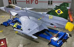 The deal includes production in Brazil of 15 the aircraft, as well as a technology transfer agreement; 350 Brazilian engineers trained on the fighter in Sweden