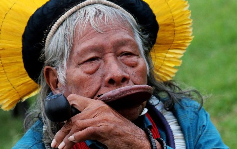 Raoni, a 90-year-old chief of the Kayapo people known for traveling the world to raise awareness of threats to the Amazon, also slashed Bolsonaro's words