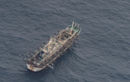 The fleet was detected this week by Peruvian naval forces some 370.15 km off the coast of the country, the local maritime authority reported.