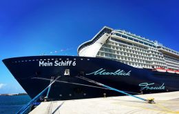 The Maltese-flagged Mein Schiff 6, operated by German travel giant TUI, is carrying 922 passengers and 666 crew