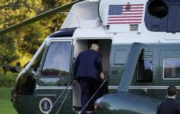 Trump flew by helicopter to Walter Reed Medical Center for treatment in the early evening. Staff members said he would continue working from a special suite