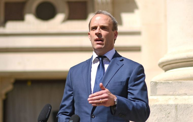 """I would say let's gather the evidence, work with our international partners and consider in the round what further action we need to take,"" Raab told MPs"