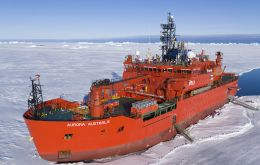 "The current icebreaker ""Aurora Australis"" is owned by P&O Maritime Services"