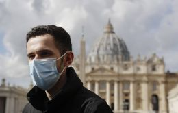 Whistleblower Kamil Jarzembowski outside St. Peter's Square at the Vatican. Photo: AP