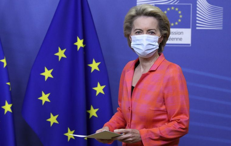 "During a cross-Channel call on the eve of the crunch talks, EU chief Ursula von der Leyen warned that there was ""still a lot of work ahead of us"""