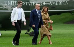 """Luckily he is a strong teenager and exhibited no symptoms,"" Melania Trump said in a statement. She said she and Barron had since tested negative for the virus."