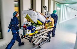 """We are about to ask for the transfer of patients to hospitals in Germany again,"" the head of the Dutch hospital association LNAZ told reporters."