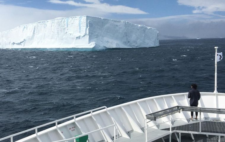 The coalition - all women - called for creating a new marine protection area around Antarctica, as governments began a two-week meeting of the CCAMLR.