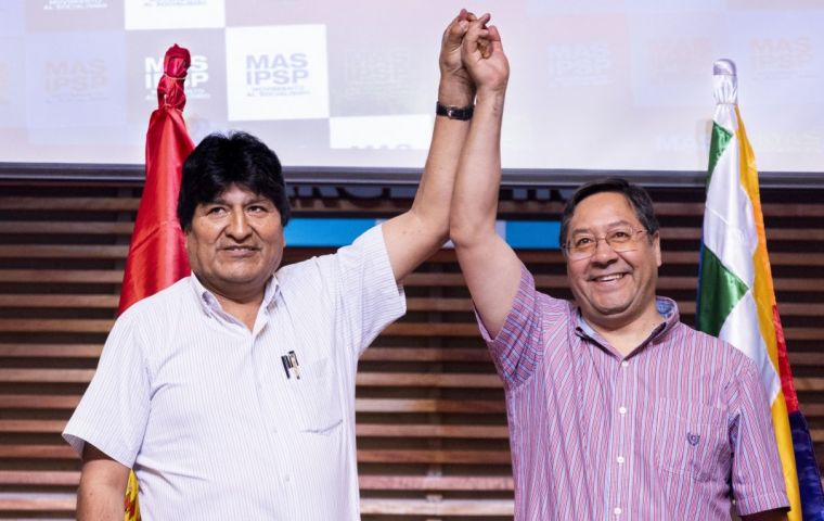 "Arce, 57, said his victory was a ""return to democracy"" for the divided country. ""We have recovered democracy and we will regain stability and social peace"""
