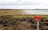Minefield signs have been a familiar sight in Stanley and Camp for over 38 years; some members of the community having never known the Falklands without them.(Pic  by Fenix Insight)