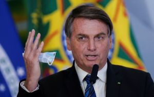 Earlier this week, Bolsonaro sparked confusion when he publicly rejected the CoronaVac shot, saying Brazilians would not be used as guinea pigs