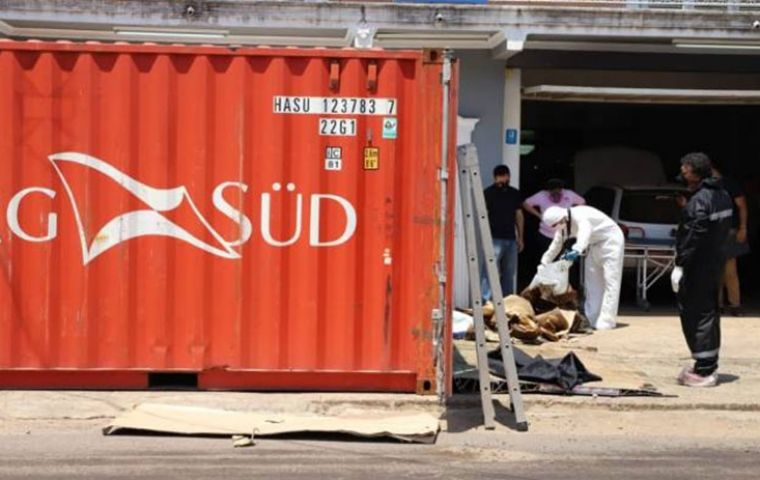The container had travelled through Croatia, thought to be the migrants' planned destination, before going through Egypt, Spain, Argentina en route to Paraguay.