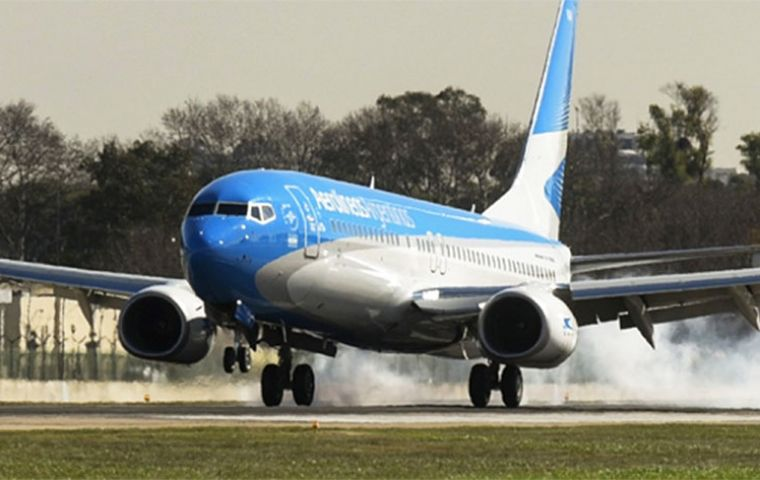 Jujuy was the first Aerolíneas Argentinas destination out of Ezeiza Airport on Thursday with a further three flights to Mendoza, Tucumán and Tierra del Fuego